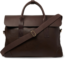 Full-grain Leather Briefcase - Brown