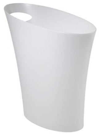 Umbra - Skinny - Papirkurv, Hvit Metalic