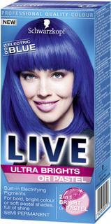 Kjøp Schwarzkopf Live Color Ultra Brights 95 Elect Blue, 95 Electric Blue Schwarzkopf Toning Fri frakt