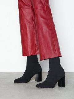 Bianco Knit Boot Heel Svart
