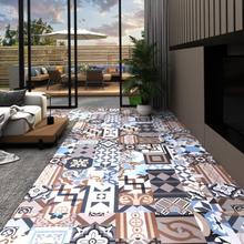 vidaXL PVC-golvbrädor självhäftande 5,11 m² mono-mönster