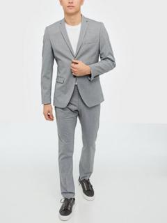 Selected Homme Slhslim-Mylologan Light Grey Blazere & jakkesæt