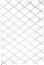 Nature Trädgårdsspaljé 100x300 cm PVC vit