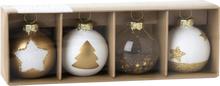 IHR - Korthållare Julkulor 4-pack Guld