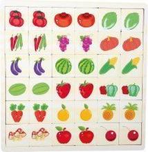 """Memo-Puzzle """"Obst und Gemüse"""""""