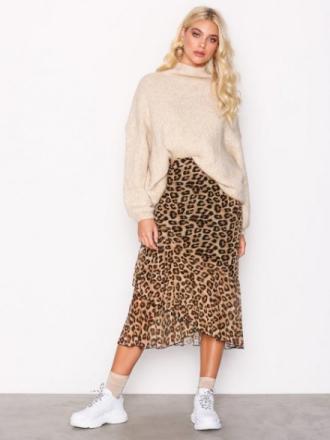 NLY Trend Leo Mesh Skirt Midikjolar Leopard
