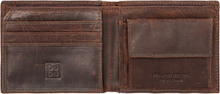 Small man billfold wallet vintage leather with zip pocket dudu d