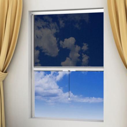Rullende insektnetting for vinduer - 100 x 170 cm i hvit