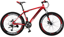 """Mountain bike 26"""" - sykkel med 21 gir - rød"""