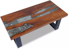 Salongbord Teak Harpiks 100x50 cm