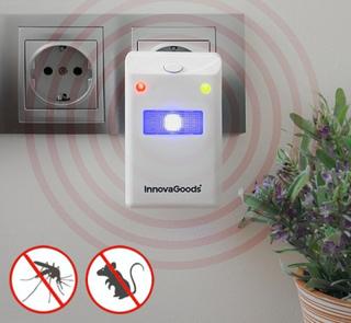 Insekt og gnagerrepeller med LED-lys