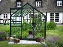 Halls Växthus Popular 6,2 kvm, Grön, Glas