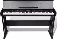 El-piano / digitalt piano med 88 taster og musikkstativ