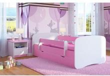 EuroToys - Barnsäng - Rosa med förvaring och madrass