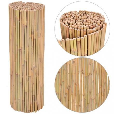 Hagegjerde i bambus - 300x100 cm