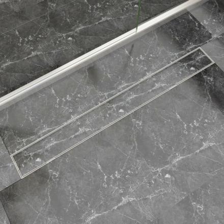 vidaXL Lineært bruseafløb 1030x140 mm rustfrit stål