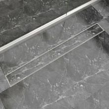 vidaXL Avlång golvbrunn 1030x140 mm rostfritt stål