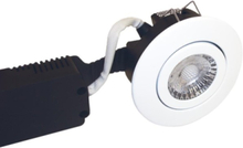 Low profile 230v downlight 6w led 2700k outdoor white ro