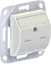 Dual snap-in-jack faceplate module with dust covers for 2 x