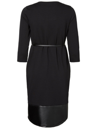 MAMA.LICIOUS Leather Look Nursing Dress Women Black