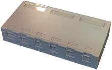 Officebox for 6 x rj45 keystone w shutter