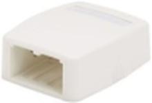 Mini-com surface mount box white