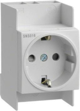 Outlet schuko for din rail