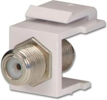 Keystone f-connector modul white