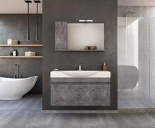 Möbelpaket Senso 105 - Granitfärgat med spegelskåp