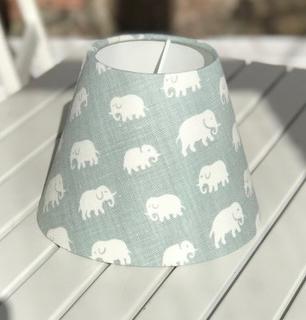Lampskärm Elefant Frostgrön, lin