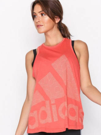 Topp Loose Fit - Korall Adidas Sport Performance Logo Cool Tank