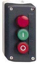 Trykknapbox 2/tryk+LED rød 230V