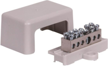 Earthing terminal with base and cover 1x 6-25mm2/ 5x1.5- 6 m