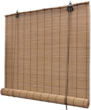 vidaXL Rullaverho bambu 100x220 cm ruskea