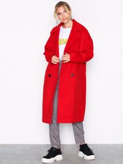 Vero Moda Vmmonday Cala Long Jacket Ki Mørk Rød