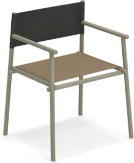 Terramare Armchair, Matt White, Seat: Emu-Tex, Light Grey, Back: Eco-Leather, White