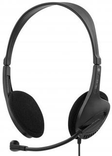 DELTACO headset, sluten, 32 Ohm, 2,3m kabel, svart