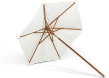 Messina Umbrella Ø270, Meranti Base, Fabric / White, Pole Ø: 3,5 cm