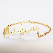 Armband med Handskriven Gravyr - Guldpläterat