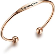 Rosé Armband Med Valfi Gravyr