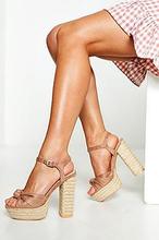 Espadrille Knot Front Platform Heels