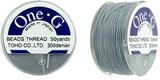 One-G pärltråd - Grey 50 yards