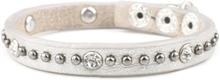 VÅGA smycken, läderarmband smal, silver
