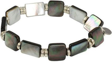 Pearls for Girls armband gråskimmer