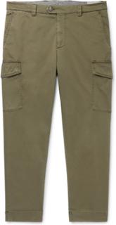 Brunello Cucinelli - Tapered Cotton-blend Twill Cargo Trousers - Green - XS,Brunello Cucinelli - Tapered Cotton-blend Twill Cargo Trousers - Green - XXL,Brunello Cucinelli - Tapered Cotton-blend Twill Cargo Trousers - Green - S,Brunello Cucinelli - Tapere