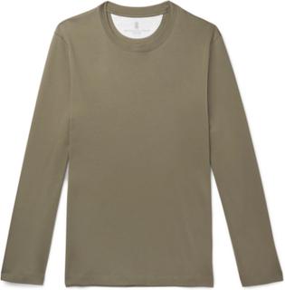 Brunello Cucinelli - Cotton-jersey T-shirt - Green - M,Brunello Cucinelli - Cotton-jersey T-shirt - Green - XXXL,Brunello Cucinelli - Cotton-jersey T-shirt - Green - S,Brunello Cucinelli - Cotton-jersey T-shirt - Green - L,Brunello Cucinelli - Cotton-jers