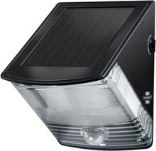 Brennenstuhl Solcellsdriven LED Säkerhetslampa Rörelsedetektor Svart