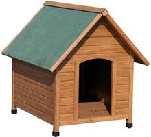 Kerbl hundehus 100x88x99 cm brun og grøn 82395
