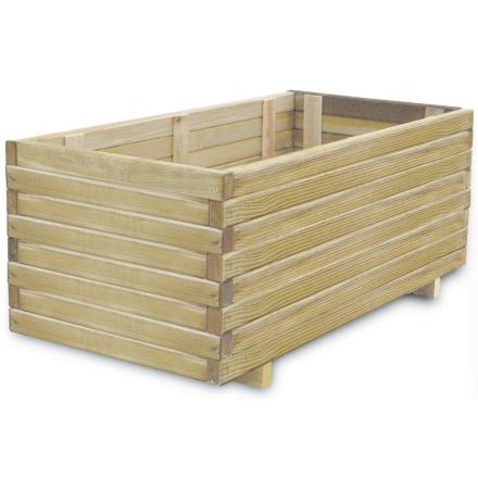 vidaXL plantekasse FSC-træ rektangulær 100 x 50 x 40 cm