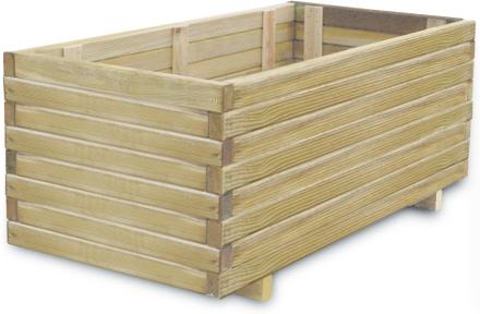 vidaXL Odlingslåda 100x50x40 cm FSC-trä rektangulär